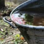 Gebruik een waterton om de tuin te sproeien en te besparen