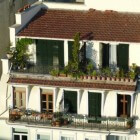 Alternatieve tuin op plat dak of balkon